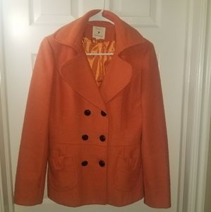 Orange Peacoat